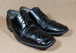 Stacy Adam's Mens 8.m Oxfords Square Toe Dress Shoes Black Leather Upper Y1