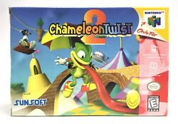 Nintendo 64 N64 Chameleon Twist 2 Original Box Only *Authentic* *No Game*