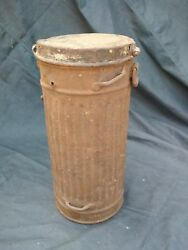 Gas Mask Container Box Canister Ww2 Original Wwii German
