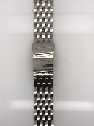 Breitling Silver Stainless Steel Strap Deployment Buckle 24-20 Mm 443a