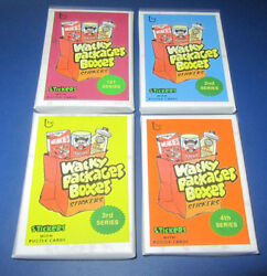 Lost Wacky Packages Box Stickers 4th Series Red Ludlow Set 09/15 @@ Rare @@