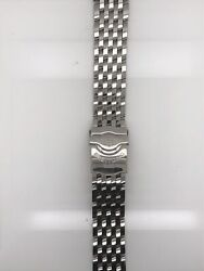 Breitling Silver Stainless Steel Strap Deployment Buckle 20-17mm 420a