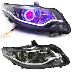 For Honda City 2009-11 Xenon Head lamp assembly Blue Halo LED DRL turn signals