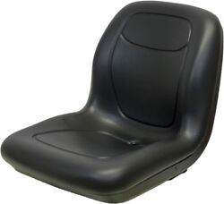 Black 18.80 Seat Fits Simplicity Mowers With 4.5 X5.25 And 6.5x5.25 Mounting