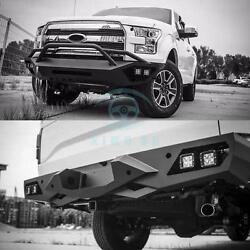 A Pair Car Front and Rear Bumper Bars Protect Adorn Refit For Ford F150 Raptor