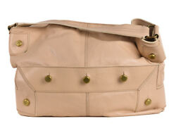 Givenchy Womens Large Ivory Leather Hobo Shoulder Bag~ RTL$1950