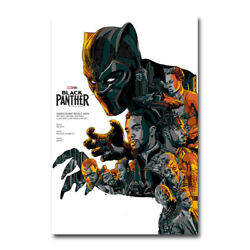 Black Panther Hot Movie Art Canvas Poster 12x18 24x36 inch