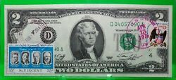 Us 2 Dollars 1976 First Day Stamp Cancel Bear River Ut Lucky Money Value 125