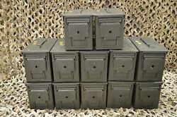 MILITARY ISSUED (12 PACK) M2A1 50 Cal AMMO CAN GREAT CONDITION * FREE SHIPPING *
