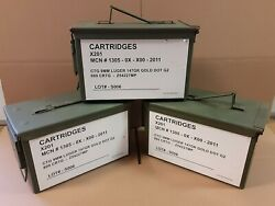 12 PACK - M2A1 50 Cal AMMO CAN EXCELLENT CONDITION   * FREE SHIPPING  *