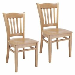 Hybrid Side Chair In Natural With Wood Seat Set Of 2
