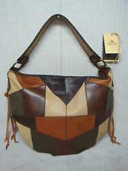 PATRICIA NASH - VINCENZO - P022115 - Brown Patchwork Leather -Slouchy Hobo Purse