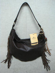 PATRICIA NASH - VINCENZO - P02284 - Brown CHOCOLATE Leather - Slouchy Hobo Purse