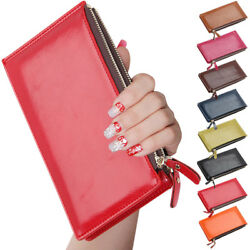 Simple Design Ladies Pu Leather Slim Thin Purse Bag Women Card Holder Wallet New