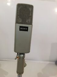 VINTAGE 1980'S SONY C-48 Condenser Microphone Mic &Stand Adapter