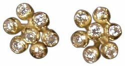 New Fireworks-7 Earrings-18k Gold And Diamonds-celebrate Life Love All Moments