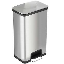 iTouchless AirStep 18 Gallon Step-On Kitchen Trash Can Stainless Steel Odor 68