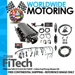 Ultimate Tall Ls1/ls2/ls6 750hp + Inline Fuel Pump Master Kit 71008 By Fitech
