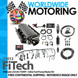 Ultimate Ls3/l92 750hp + Inline Fuel Pump Master Kit 71013 By Fitech
