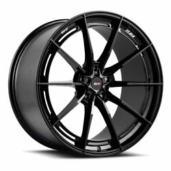 19 Savini Sv-f1 Forged Black Concave Wheels Rims Fits Honda Accord Coupe