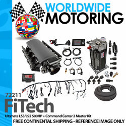 Ultimate Ls3/l92 500hp + Command Center 2 Master Kit 72211 By Fitech