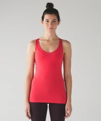 VGUC **Lululemon** Deep Breath Tank in Lush Coral.  Size 6