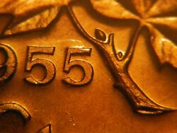 1955 Double Hanging 5 One Cent Sf Choice Bu To Gem