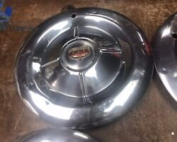 1953 53 Chrysler Imperial Hubcap Wheel Cover Antique Vintage Lot Of 4