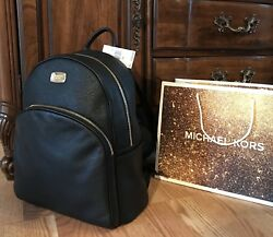 $348 Michael Kors ABBEY Leather Backpack Handbag MK Designer Bag