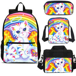 Cute Angel Colorful Rainbow Cat Book Bag Cross-body Bag for Kids Wholesale Gifts