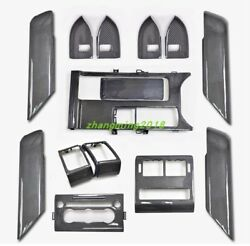 14pcs True Carbon Fiber Car Interior Kit Cover Trim For Range Rover Sport 2018