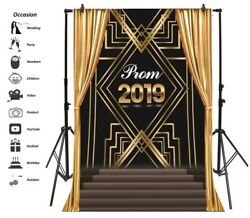 2019 New Year Gold Curtain Photography Background 6x8ft Vinyl Photo Backdrops