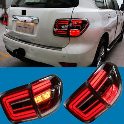 Smoked Tail Light Lamp Left+right Passenger Side for Nissan Patrol Y62 2010-2018