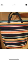 Large Old Navy Canvas Tote Book Beach Bag XL New
