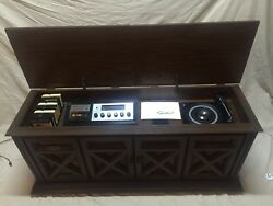 1970and039s Vintage Capehart Am/fm Stereo Radio Record Phonograph 8 Track Console