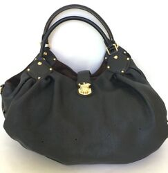 Authentic Louis Vuitton Mahina XL Noir black purse designer leather bag EUC