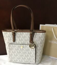 New Michael Kors Jet Set Handbag Monogram Purse MK Designer Bag