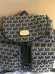 New $298 Michael Kors Backpack MK Jet Set Handbag Designer Bag
