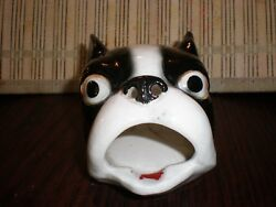 Vintage figural Boston Terrier Bulldog Ashtray