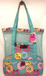 BETSEY JOHNSON Insulated DONUT Mesh COOLER Tote Lunch Beach TRAVEL Weekender Bag