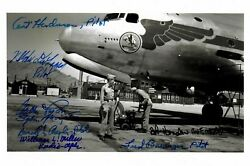 320th Troop Carrier Crew Signed 5x7 Photo Psa Dna Ac01408 Atomic Bomb X7