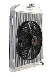 3 Core Performance Radiator+16 Fan For 47-54 Chevy Pickup I6 3100 3600 3800