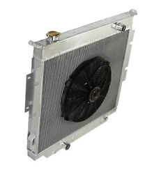 3 Row Performance Radiator+16 Fan For 83-94 Ford F-250 F-350 Diesel V8 Mt Only