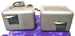 Golden Voice Motorola Ad-191 Radio Speaker Boxes Set Lot Maybe Left And Right
