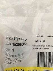 Connector Chassis Electrical Harness AcDelco PT1137 GM 15306302 AC Compressor