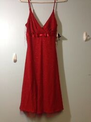 City Triangles Red Dress New Tags Size Small Great For Christmas Sparkle Design