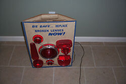 Brake Light Lens Gas Station Display Stand Chevy Ford Collectible Hot Rod Shop