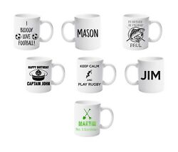 Personalised Sport Fishing Boat Gardening Mugs by Forever Personal Designs
