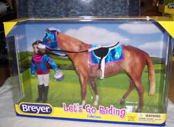 BREYER HORSE  LETS GO RIDING COLLECTION Racing  #1727 DOLL & TACK