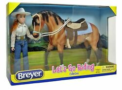 BREYER HORSE  LETS GO RIDING COLLECTION Western  #1410 DOLL & TACK